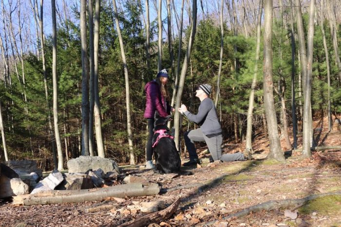Marriage Proposal Ideas in On our favorite hike: a trail off the AT near Pulpit Rock/The Pinnacle in Hamburg, PA