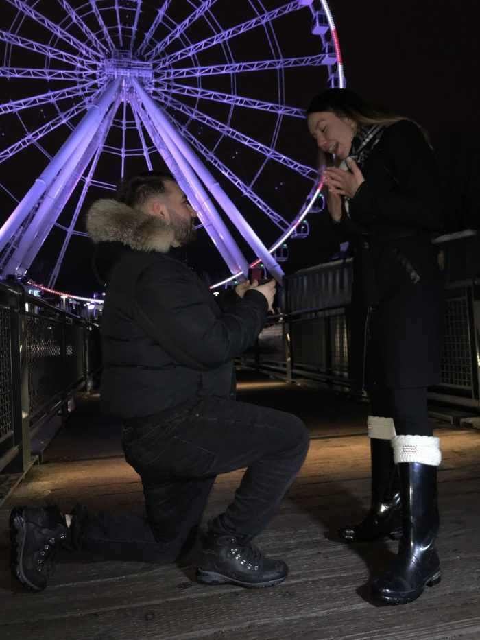 Wedding Proposal Ideas in Old port in Montreal