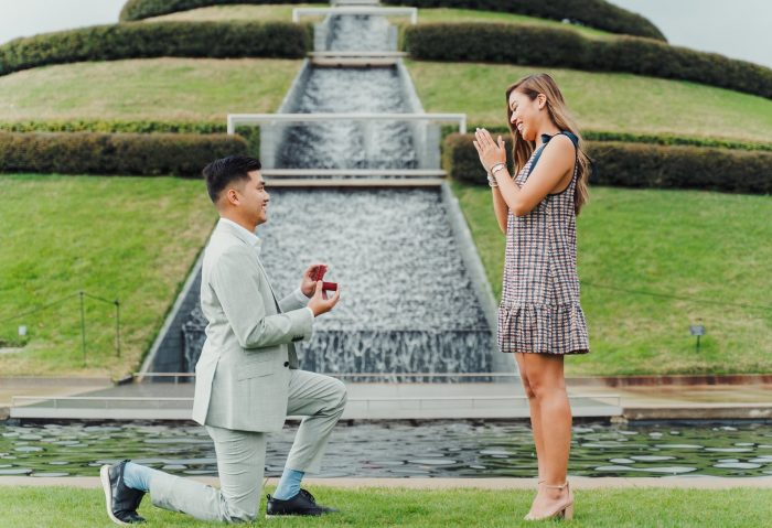 Tammy's Proposal in McGovern Centennial Gardens in Houston, Texas