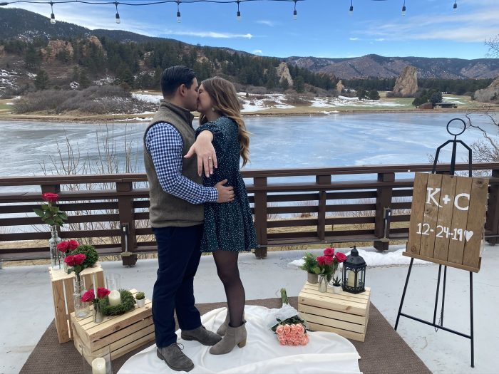 Engagement Proposal Ideas in Perry Park Country Club, Larkspur, CO