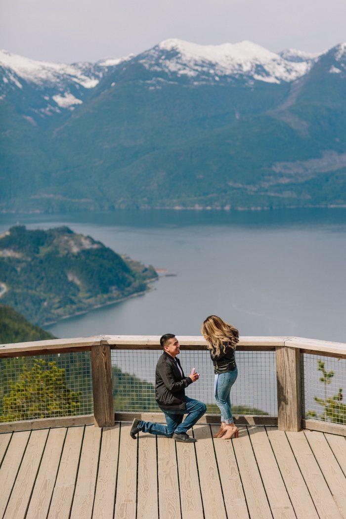 Wedding Proposal Ideas in Sea To Sky Gondola, Squamish, BC