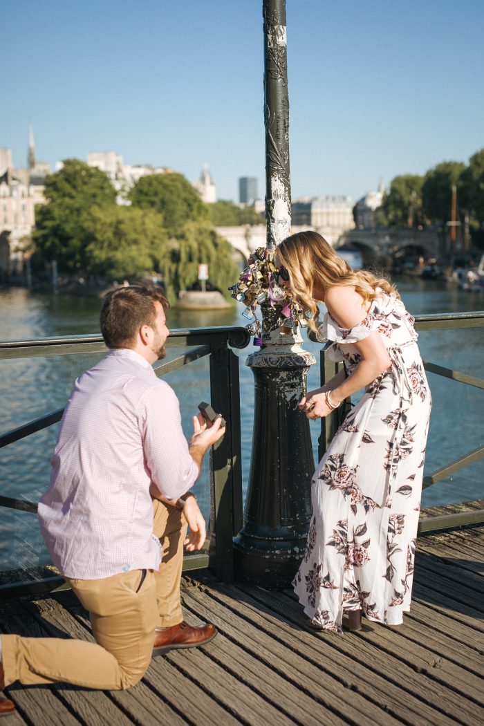 Engagement Proposal Ideas in Paris, France (Lock Bridge)