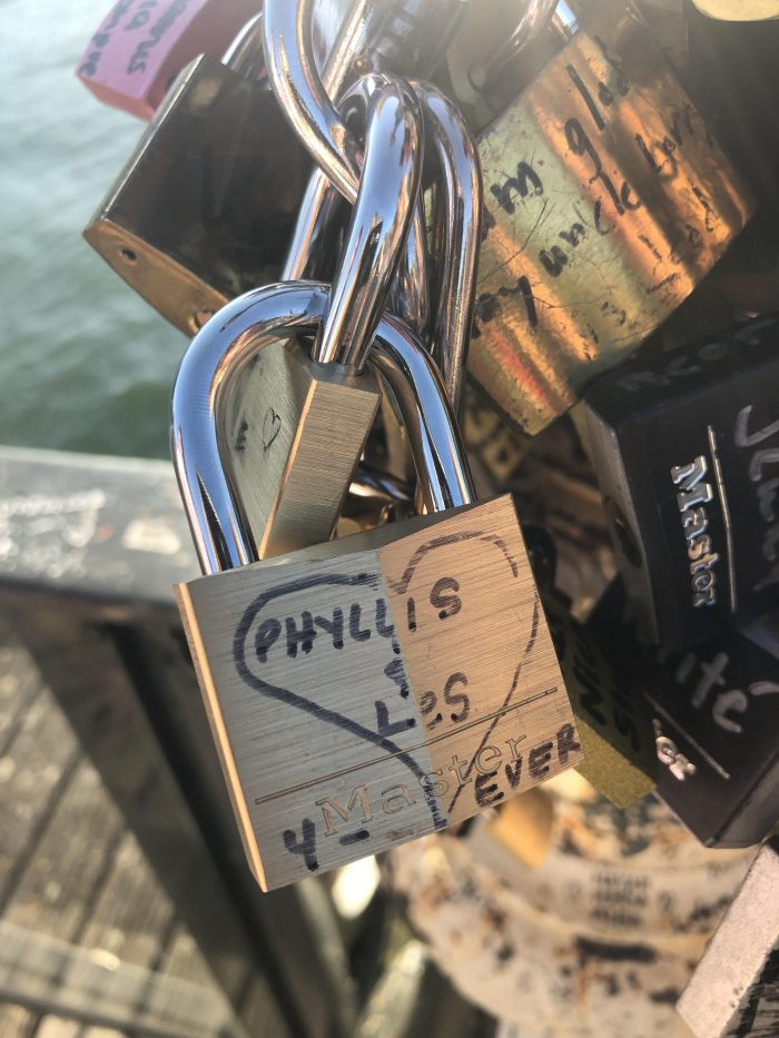 Wedding Proposal Ideas in Paris, France (Lock Bridge)