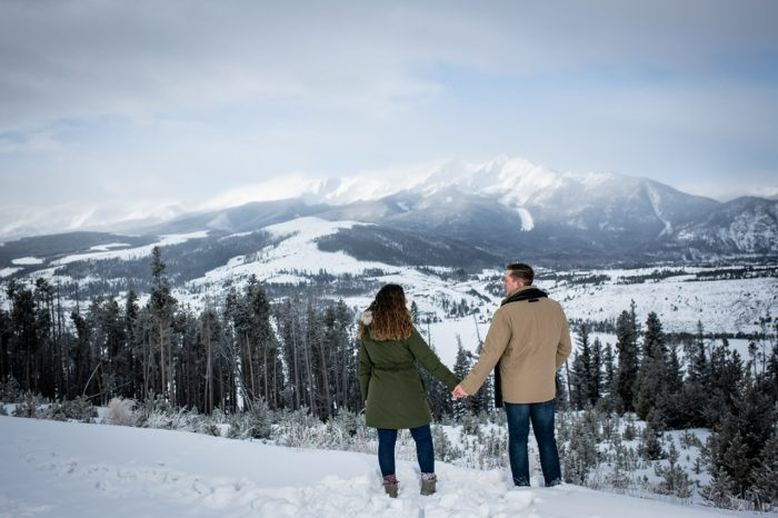 Liliann and Justin's Engagement in Sapphire Point, CO
