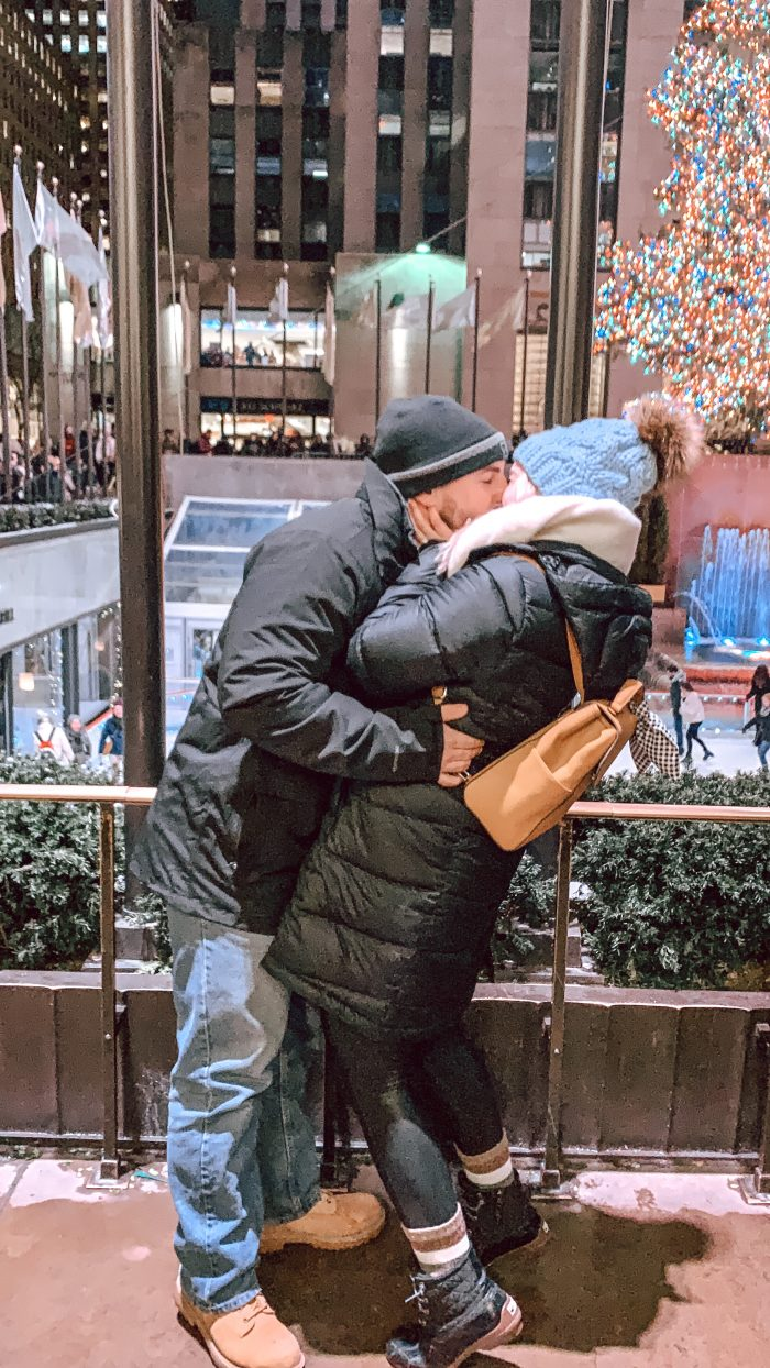 Engagement Proposal Ideas in New York City, Rockefeller Center Christmas Tree