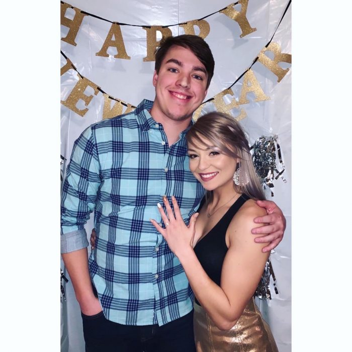 Dallas and Jacob's Engagement in The bride's best friend's home