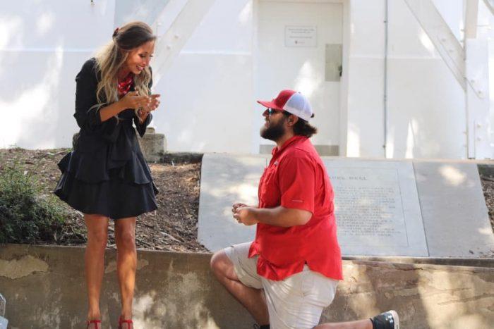 Wedding Proposal Ideas in The university of Georgia chapel bell
