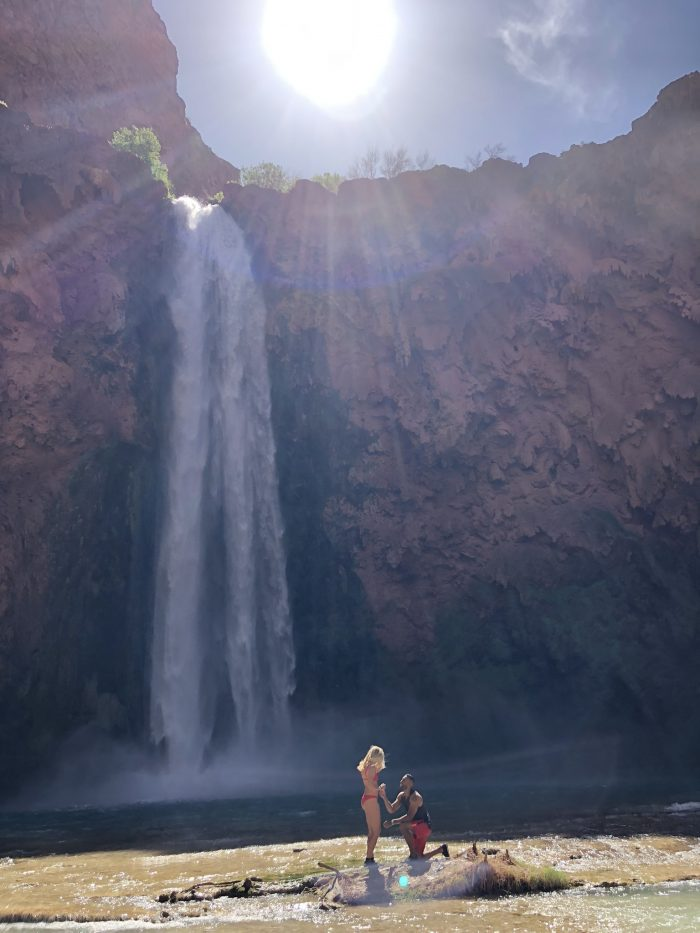 Marriage Proposal Ideas in Havasupai Falls, AZ