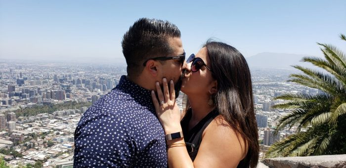 Marriage Proposal Ideas in Santiago, Chile on the San Cristobal Hill