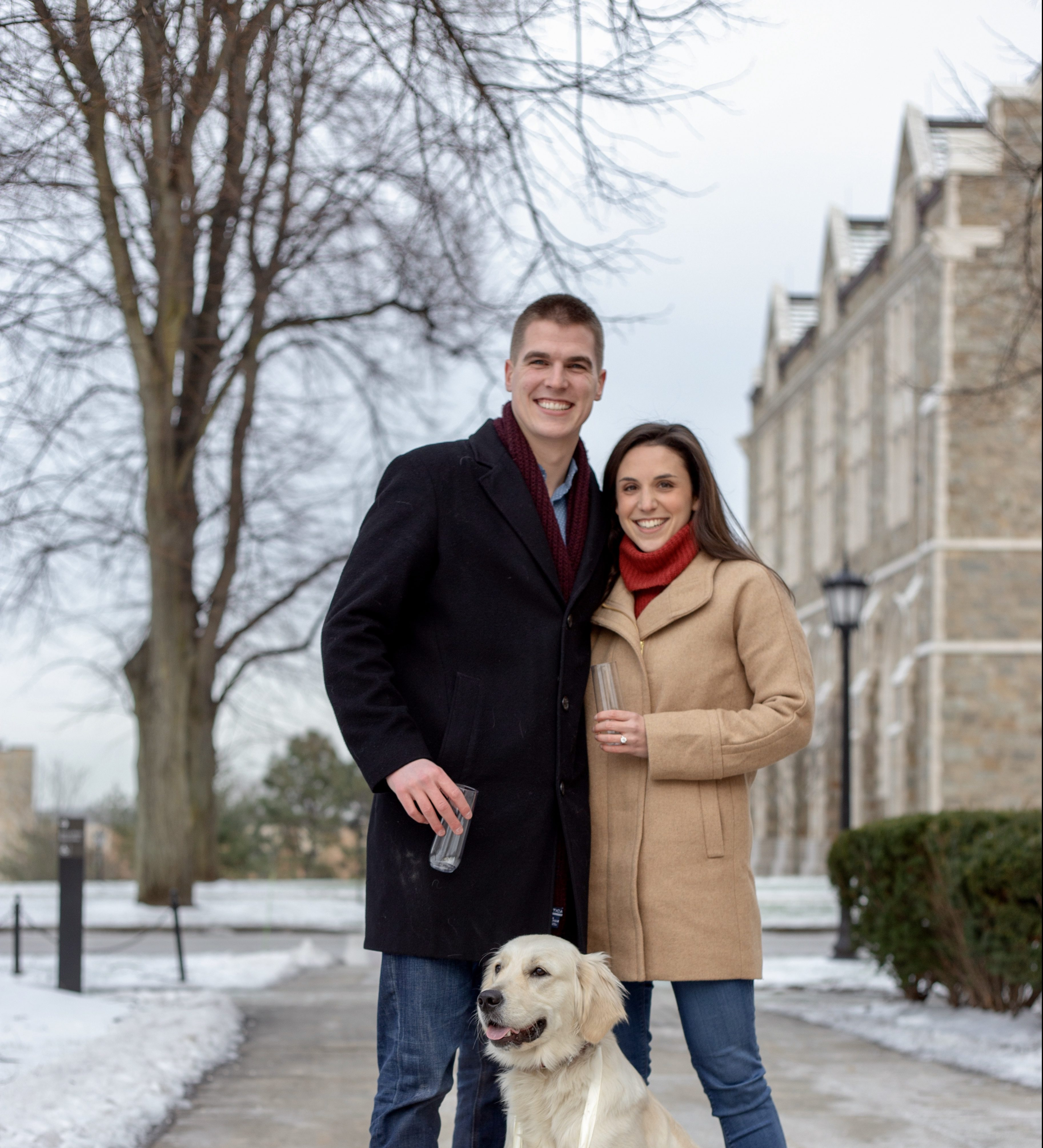Ellery and Chris's Engagement in Boston College