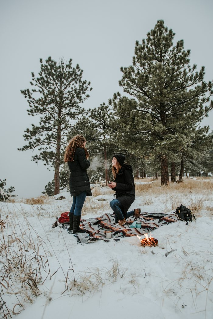 Marriage Proposal Ideas in In the mountains in Boulder, Colorado