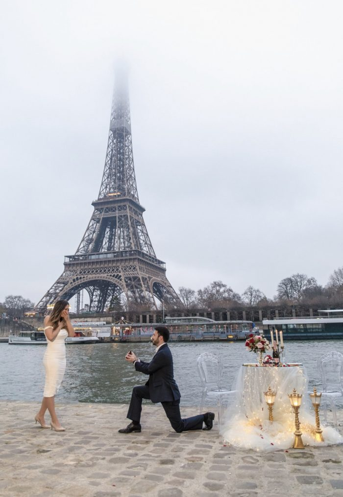 Casey's Proposal in Paris, France