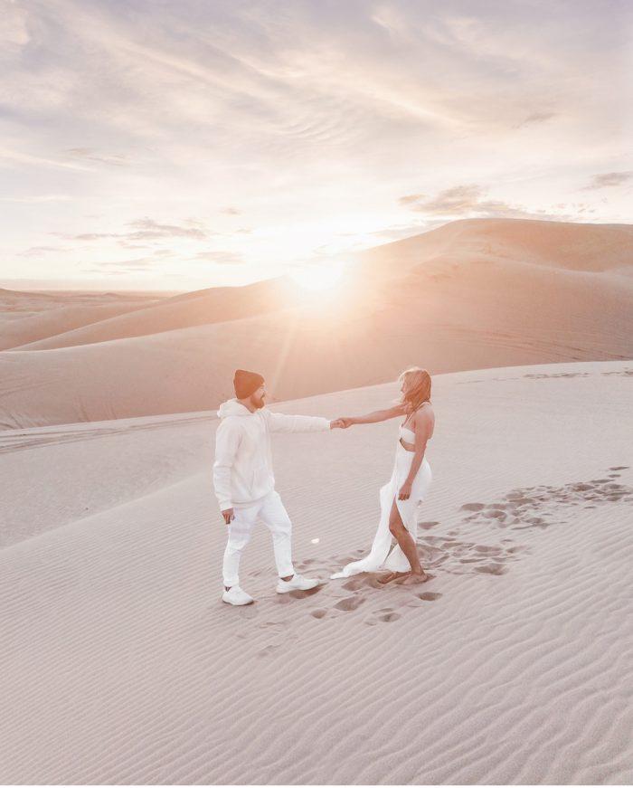 Eva Catherine and John Joseph's Engagement in Glamis, California