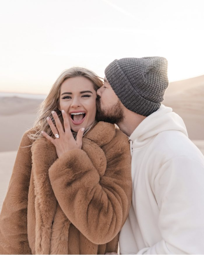 Eva Catherine's Proposal in Glamis, California