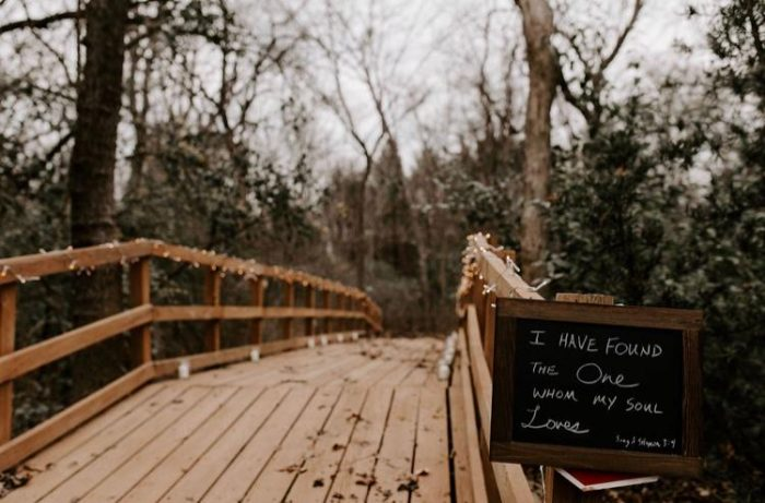 Wedding Proposal Ideas in The bridge on my Grandparent's back acre