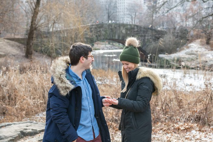Ainsley and Dan's Engagement in Central Park
