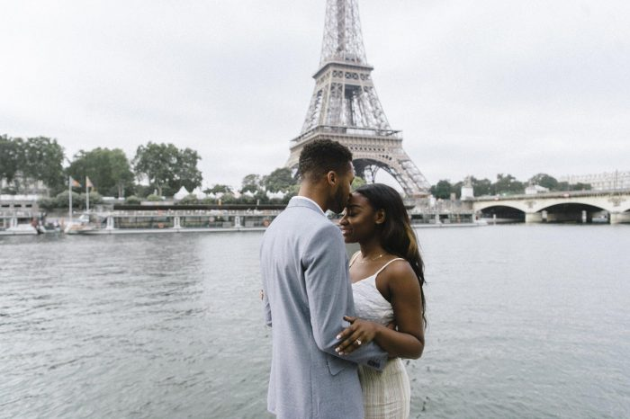 Ashley and Evan's Engagement in Paris, France