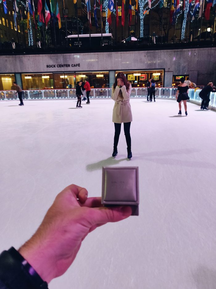 Anabel's Proposal in The Rockefeller Center ice-skating rink