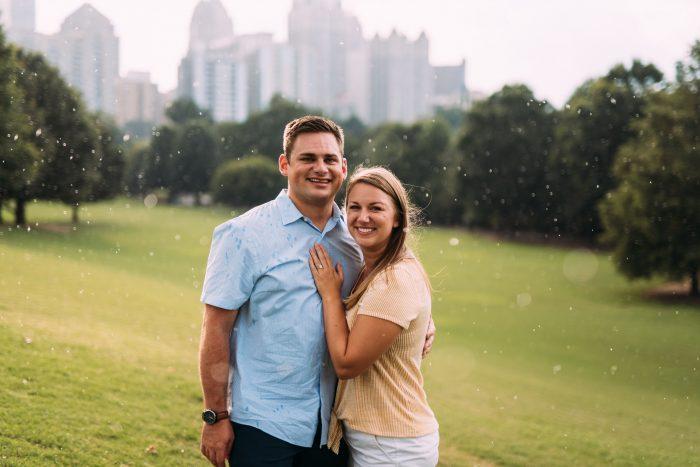 Wedding Proposal Ideas in Piedmont Park, Atlanta, GA