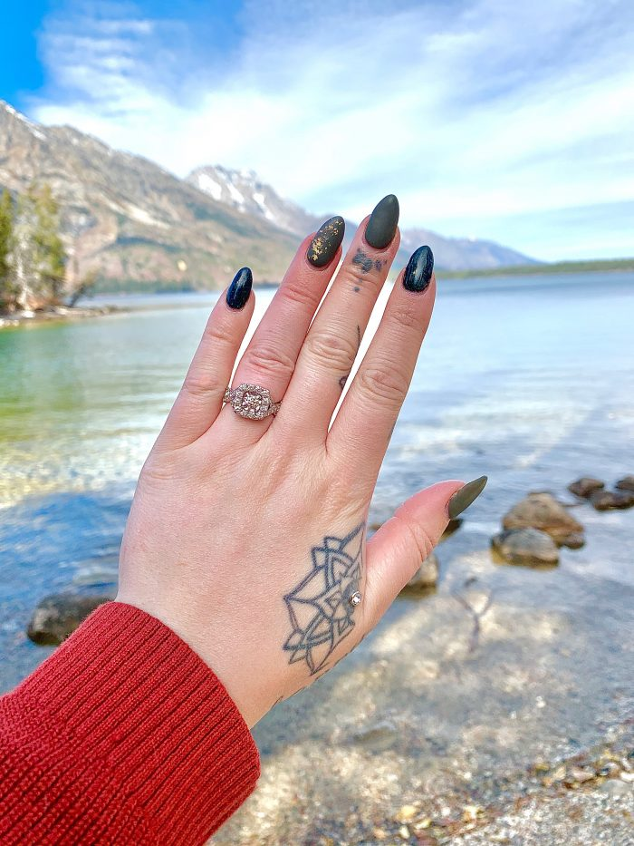 Engagement Proposal Ideas in Jenny Lake Grand Teton National Forest