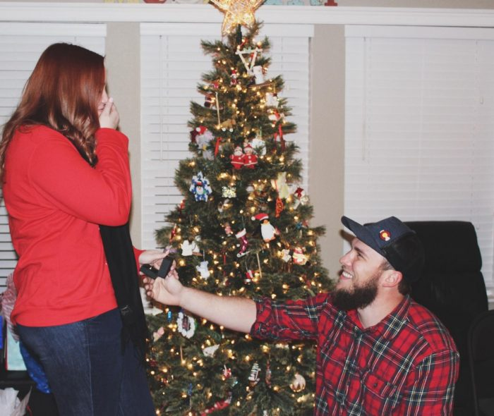 Engagement Proposal Ideas in My family Christmas Party