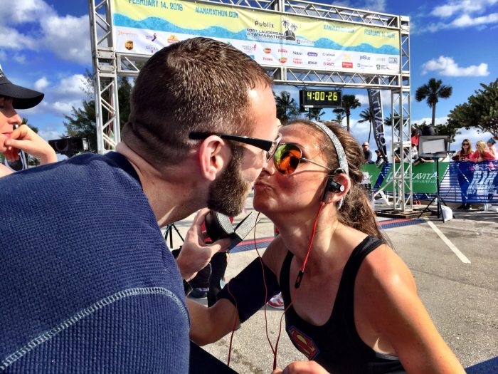 Engagement Proposal Ideas in Finish line of the A1A marathon in Fort Lauderdale, FL