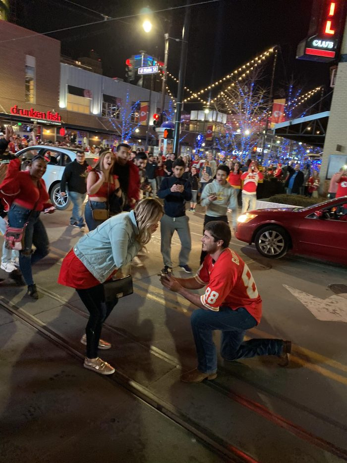 Where to Propose in Downtown Kansas City - Power & Light District