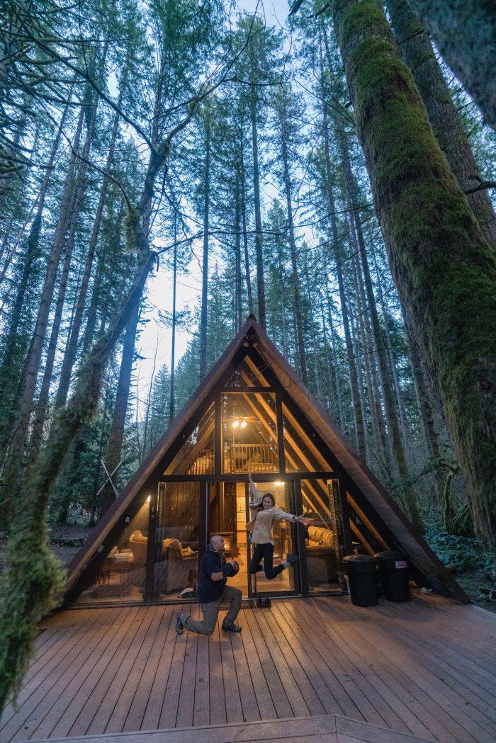 Frances's Proposal in Tye Haus in Skykomish, Washington