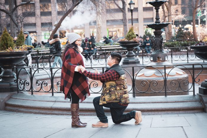 Janine's Proposal in Madison Square Park, NYC