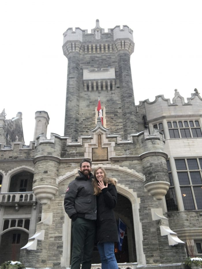 Diane and Adam's Engagement in Casa Loma (my favourite place)