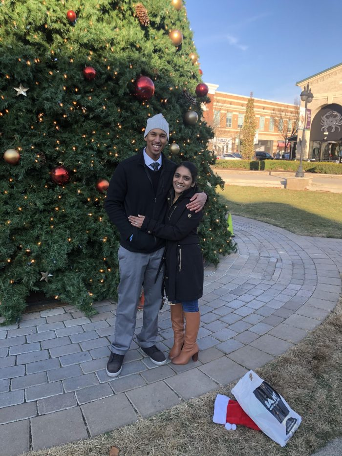 Engagement Proposal Ideas in At the Greene in front of the Christmas Tree