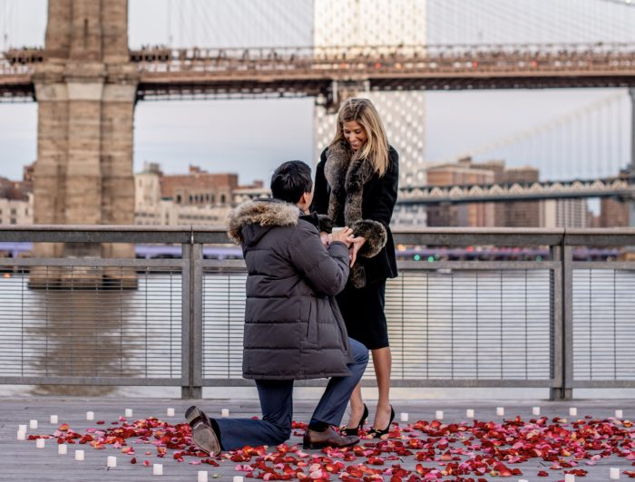 Jackie and Frank's Engagement in Pier 17, New York City