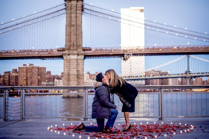 Jackie's Proposal in Pier 17, New York City