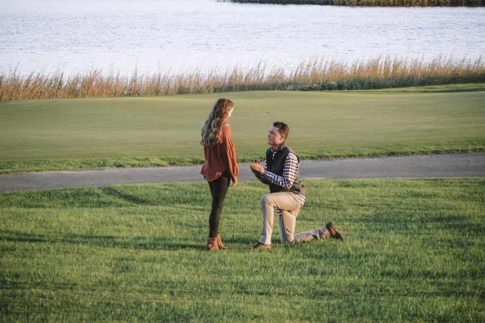 Ally's Proposal in Kiawah Island: Oak Point Golf Course