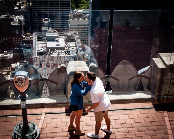 Rachel's Proposal in Rockefeller Center - New York City