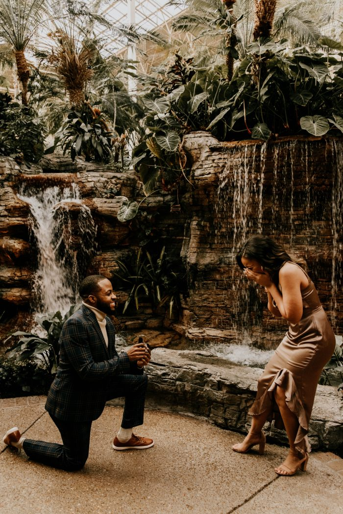 Angela and Demarcus's Engagement in Gaylord Opryland Resort & Convention Center
