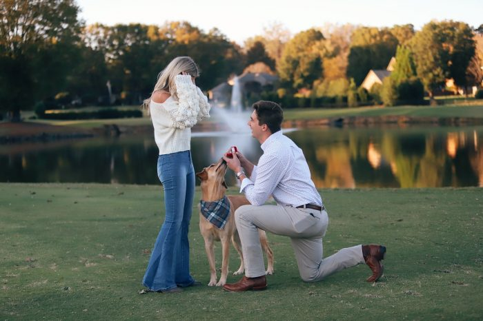 Marriage Proposal Ideas in Where we had our first date. Fishing at his neighborhood pond.