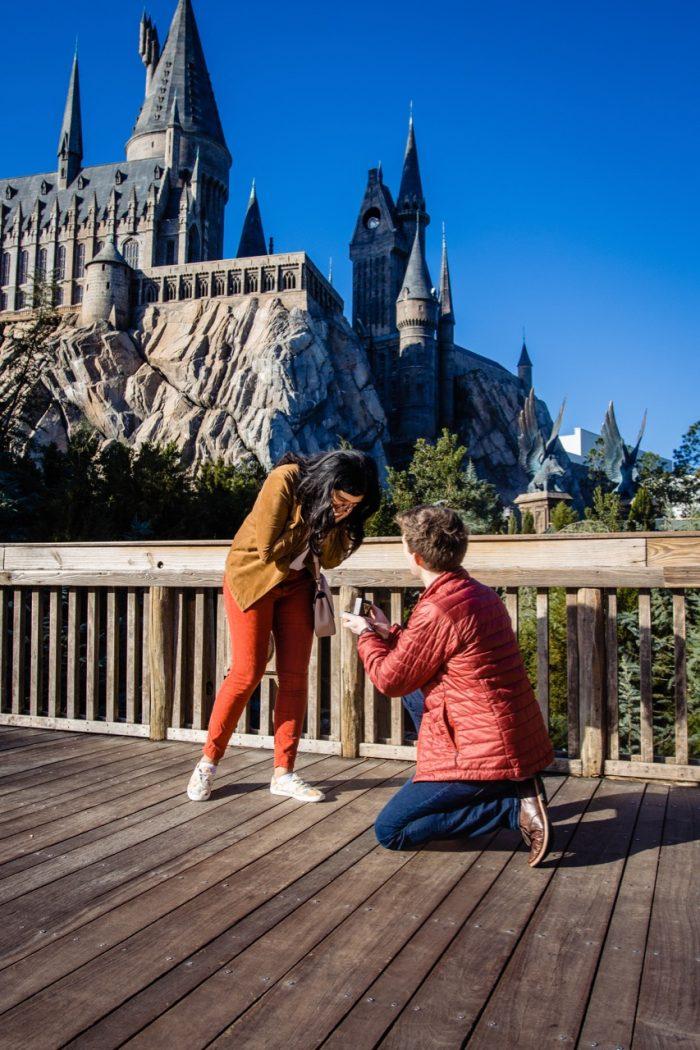 Wedding Proposal Ideas in Wizarding World of Harry Potter - Hogsmeade