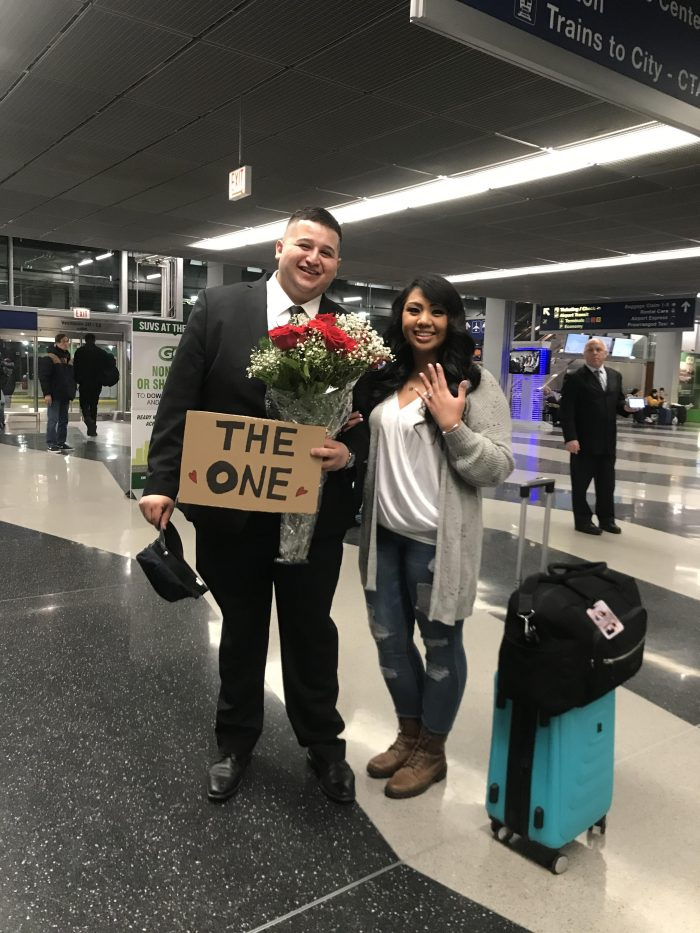 Marriage Proposal Ideas in Chicago O'Hare International Airport