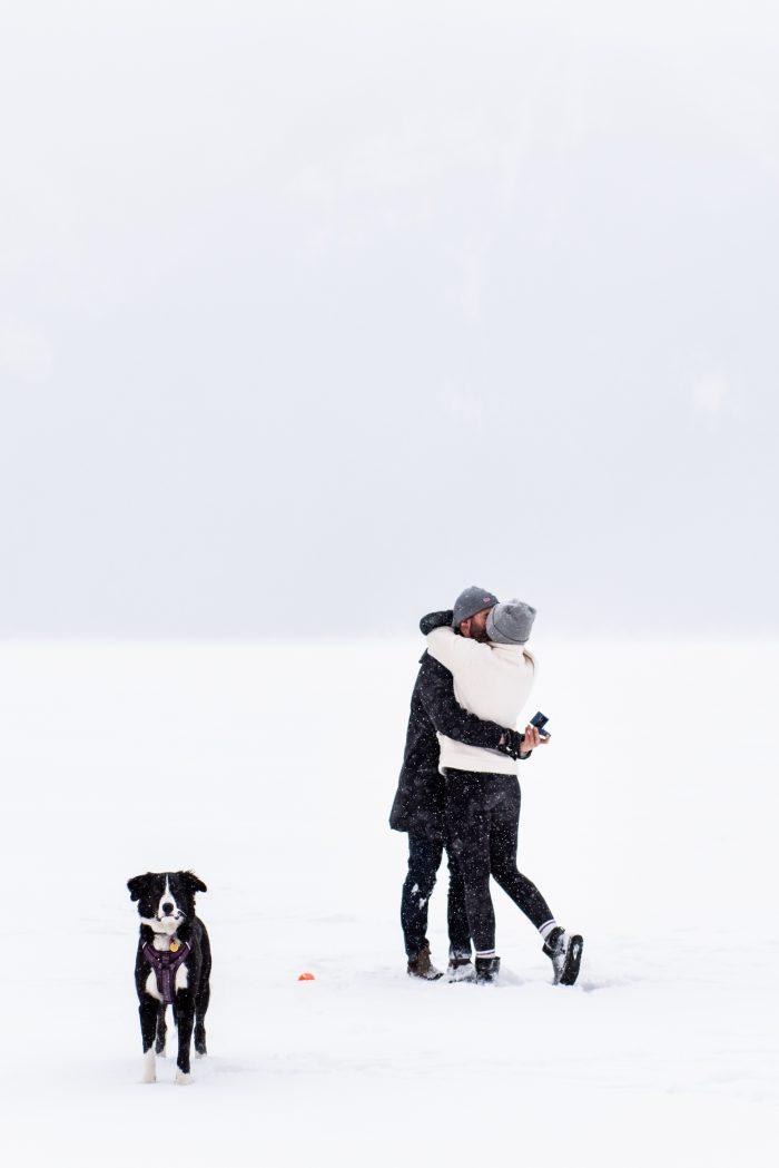 Shaelyn and Liam's Engagement in Lake Minniwanka Banff, Alberta Canada