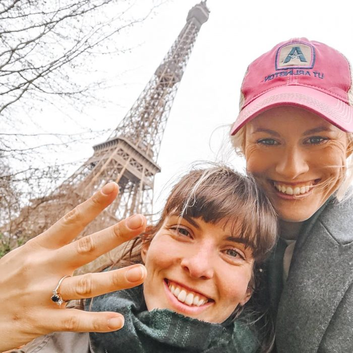 Robyn and Laurie's Engagement in Paris - Infront of the Eiffel Tower
