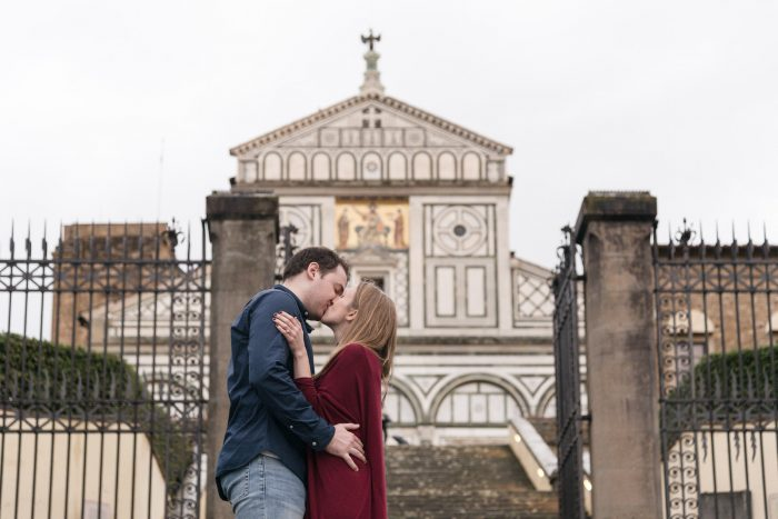 Proposal Ideas At a historic church called San Miniato in Florence, Italy