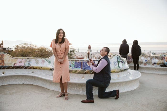 Engagement Proposal Ideas in Park Guell, Barcelona Spain