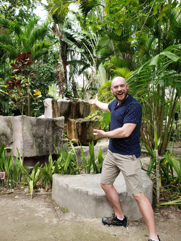 Where to Propose in Ardastra Gardens and Zoo in Nassau, Bahamas