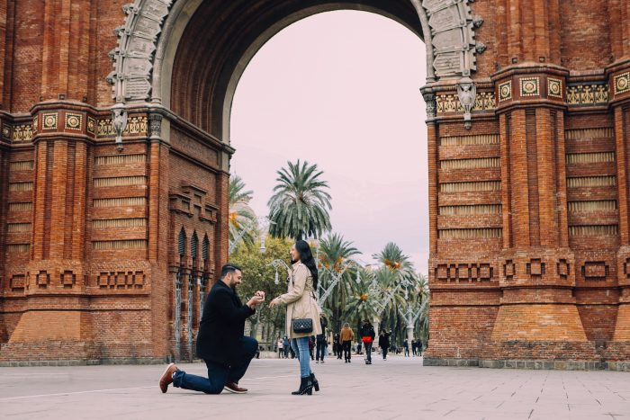 Lesly's Proposal in Barcelona, Spain