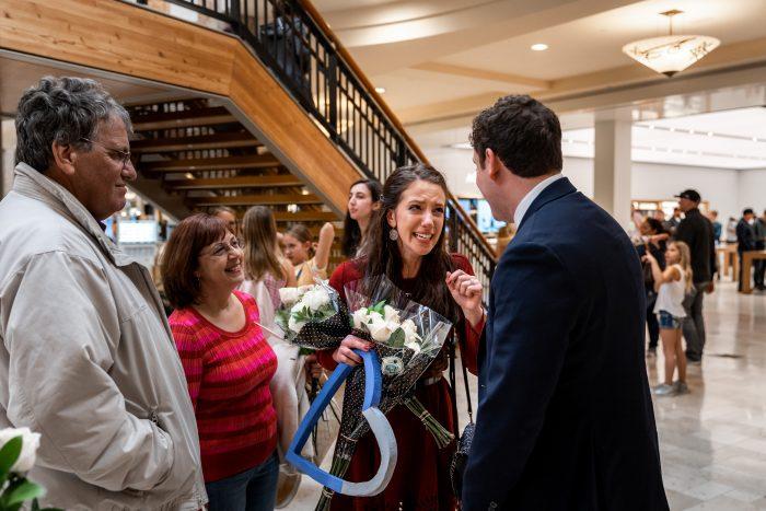 Rachel's Proposal in Apple Store, Denver CO