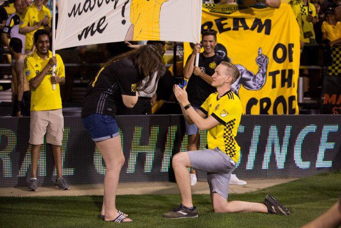 Engagement Proposal Ideas in Mapfre Stadium, Columbus, OH