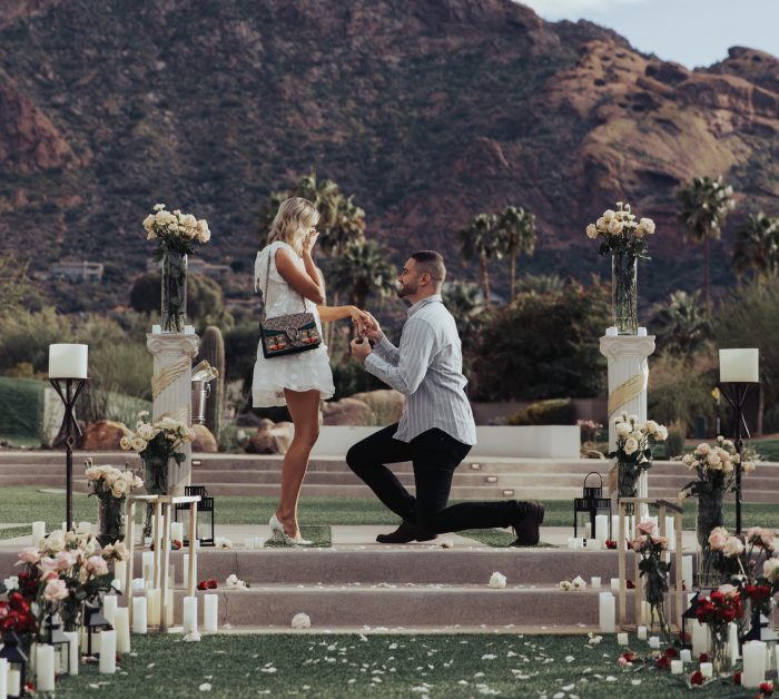 Amandalyn's Proposal in Mountain Shadows Resort, Arizona