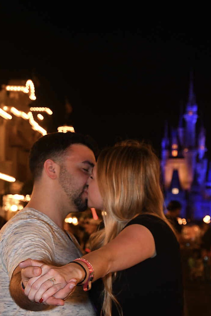 Tara and Phil's Engagement in Disney world Cinderella's royal table
