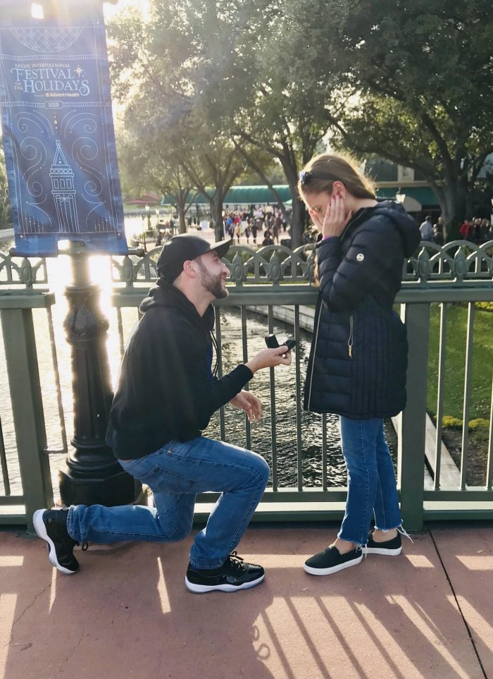 Ashley's Proposal in Epcot Walt Disney World
